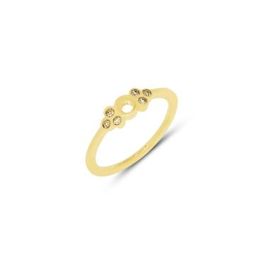 - MelanO Twisted - Ring Thera Champagner - Edelstahl GELBGOLD