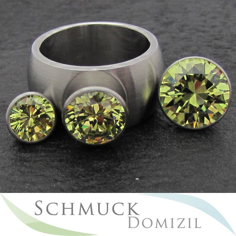 melano sturdy kollektion ring aufsatz konisch limone zirkonias 8 mm ebay. Black Bedroom Furniture Sets. Home Design Ideas