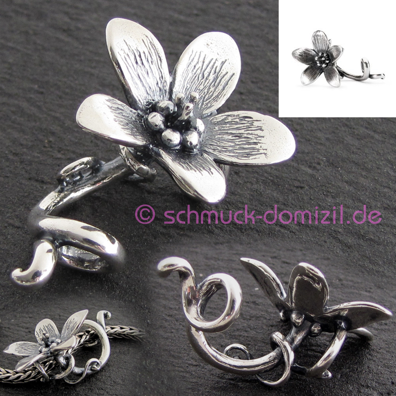 trollbeads anh nger f r ketten trollanemone anemone pendant tagpe 00061 ebay. Black Bedroom Furniture Sets. Home Design Ideas