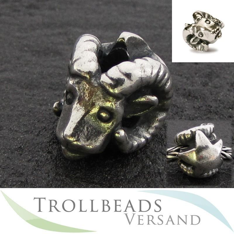 2trollbeads silberbead sternzeichen widder aries tagbe 30100 ebay. Black Bedroom Furniture Sets. Home Design Ideas