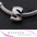 piccolo Silber Bead Buchstabe S